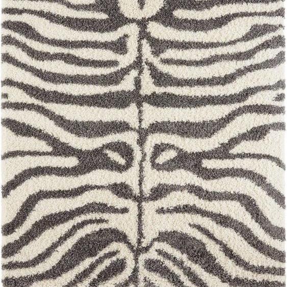 Hochflor-Teppich »Maisie«, my home, rechteckig, Höhe 35 mm, weicher Flor, Zebra Design, Wohnzimmer