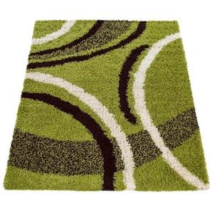 Hochflor-Teppich »Mango 301«, Paco Home, rechteckig, Höhe 35 mm, Shaggy, modernes Design, Wohnzimmer