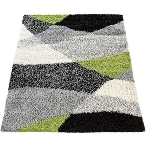 Hochflor-Teppich »Mango 308«, Paco Home, rechteckig, Höhe 35 mm, Shaggy, modernes Design, Wohnzimmer