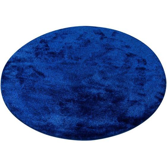 Hochflor-Teppich, Mikro Soft Ideal, my home, rund, Höhe 30 mm, maschinell gewebt 10 (Ø 190 cm), mm blau Kinder Bunte Kinderteppiche Teppiche