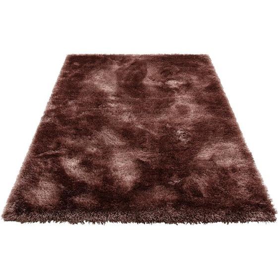 my home Hochflor-Teppich Mikro Soft Super, rechteckig, 50 mm Höhe, Besonders weich durch Microfaser, extra flauschig, Wohnzimmer 6, 200x290 cm, braun Kinder Bunte Kinderteppiche Teppiche