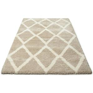 Hochflor-Teppich »Munja«, DELAVITA, rechteckig, Höhe 40 mm, Gesamthöhe ca. 40mm