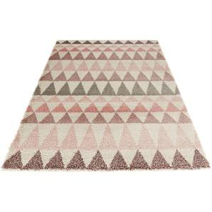 Hochflor-Teppich »Triangle«, MINT RUGS, rechteckig, Höhe 35 mm, besonders weich durch Microfaser, Wohnzimmer