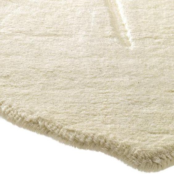 Hochflorteppich aus reiner Wolle 4, ca. 120/180 cm weiß Kurzflor-Teppiche Weitere Teppiche
