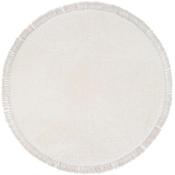 Hochflorteppich Ava Cream ø 120 cm rund