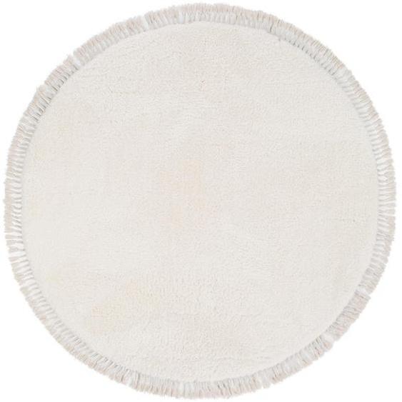 Hochflorteppich Ava Cream ø 200 cm rund