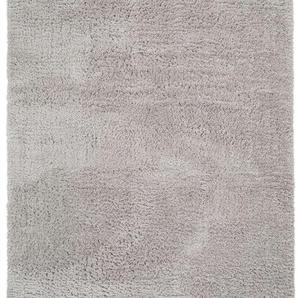 Hochflorteppich Ava Hellgrau 140x200 cm