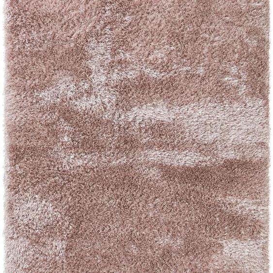Hochflorteppich Lea Rosa 140x200 cm
