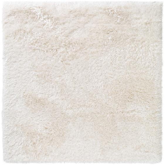 Hochflorteppich Lea Weiß 200x200 cm