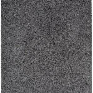 Hochflorteppich Swirls Dunkelgrau 133x190 cm