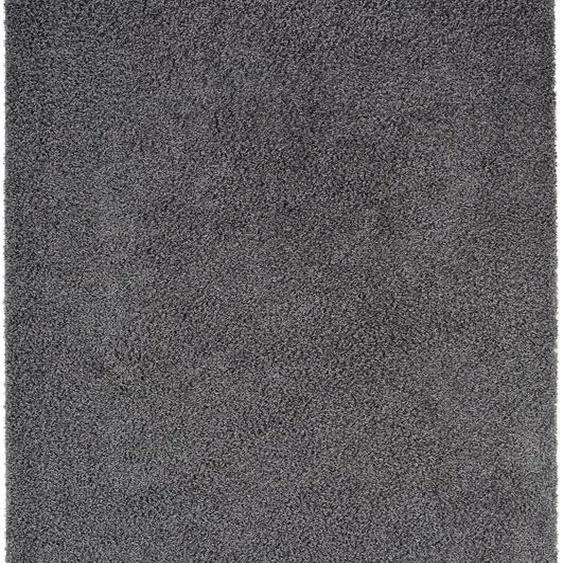 Hochflorteppich Swirls Dunkelgrau 160x230 cm