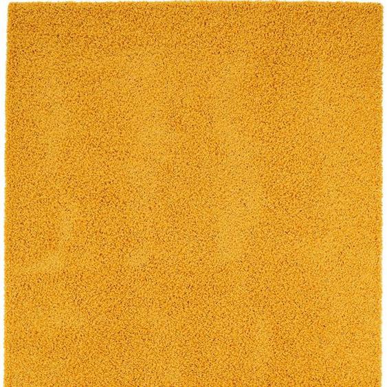 Hochflorteppich Swirls Gelb 120x170 cm