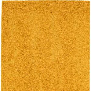 Hochflorteppich Swirls Gelb 200x250 cm
