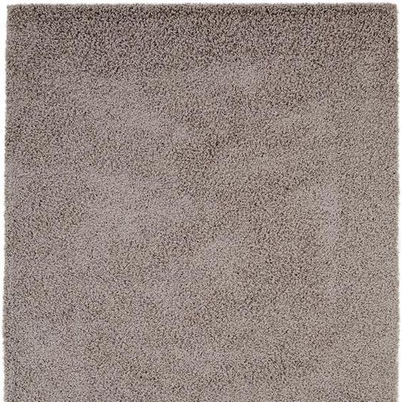 Hochflorteppich Swirls Grau 80x150 cm
