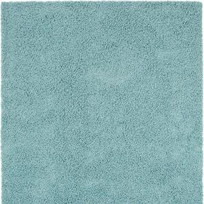 Hochflorteppich Swirls Hellblau 240x340 cm