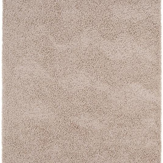 Hochflorteppich Swirls Taupe 160x230 cm