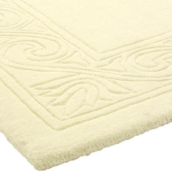 Hochflorteppich uni Farben 5, ca. 160/230 cm weiß Teppichläufer Läufer Bettumrandungen Teppiche