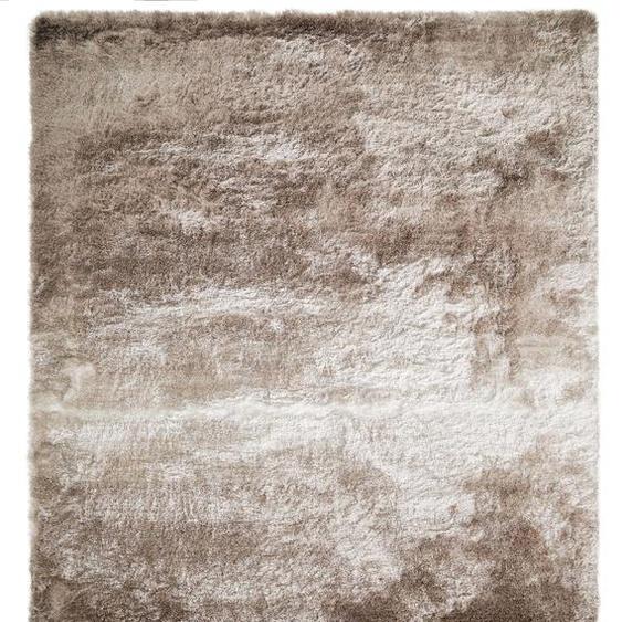 Hochflorteppich Whisper Beige/Hellbraun 140x200 cm