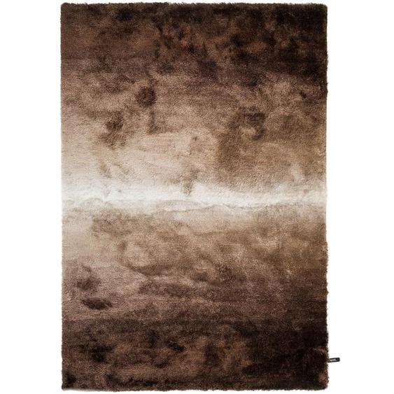 Hochflorteppich Whisper Braun/Taupe 200x290 cm