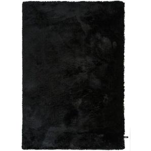 Hochflorteppich Whisper Schwarz 140x200 cm
