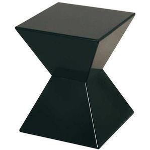 Hochglanz Beistelltisch in Schwarz modern