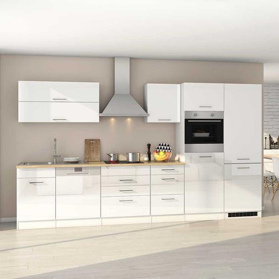 Hochglanz Küchenzeile in Weiß Geräten (13-teilig)