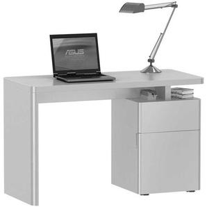 Hochglanz Schreibtisch in Wei� 120 cm breit