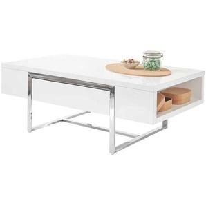 Hochglanz Wohnzimmertisch in modernem Design zwei Schubladen