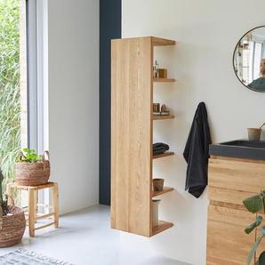 Hochschrank Badschrank Badezimmer Regal Eichenholz modernes Design