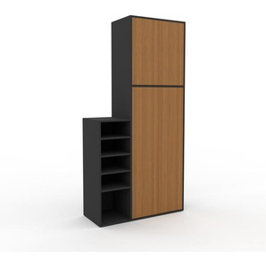 Hochschrank Eiche - Moderner Schrank: Türen in Eiche - Hochwertige Materialien - 116 x 234 x 47 cm, Selbst zusammenstellen