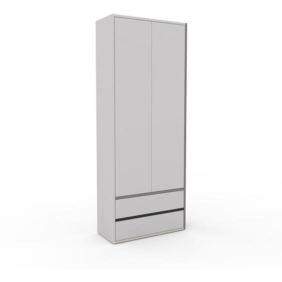 Hochschrank Hellgrau - Moderner Schrank: Schubladen in Hellgrau & Türen in Hellgrau - Hochwertige Materialien - 77 x 195 x 35 cm, konfigurierbar