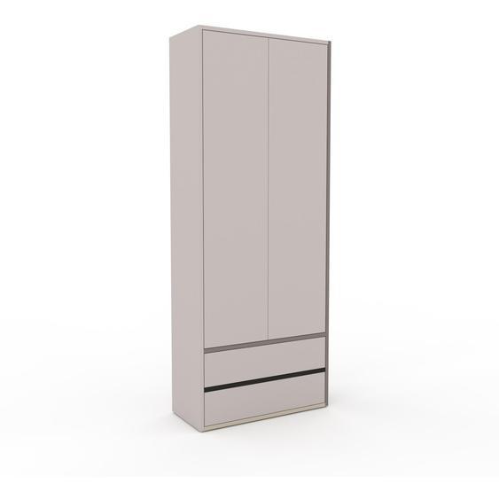 Hochschrank Lichtgrau - Moderner Schrank: Schubladen in Lichtgrau & Türen in Lichtgrau - Hochwertige Materialien - 77 x 195 x 35 cm, konfigurierbar