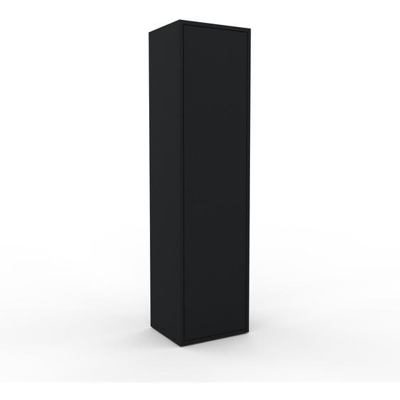 Hochschrank Schwarz - Moderner Schrank: Türen in Schwarz - Hochwertige Materialien - 41 x 157 x 35 cm, Selbst zusammenstellen