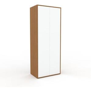Hochschrank Weiß - Moderner Schrank: Türen in Weiß - Hochwertige Materialien - 77 x 195 x 47 cm, Selbst zusammenstellen