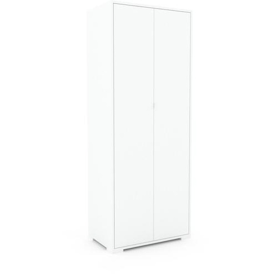 Hochschrank Weiß - Moderner Schrank: Türen in Weiß - Hochwertige Materialien - 77 x 196 x 47 cm, Selbst zusammenstellen