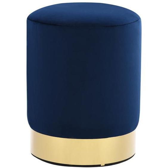 Hocker Blau und Golden Samt