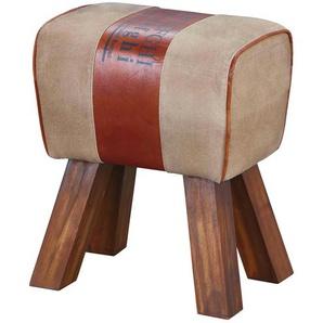 Hocker | braun | 42 cm | 47,5 cm | 29 cm | Möbel Kraft