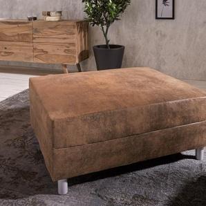 Hocker Clovis B98 x T83 Braun Modul Antik Optik, Design Hocker, Couch Loft, Modulsofa, modular