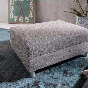 Hocker Clovis B98 x T83  Hellgrau Modul Strukturstoff, Design Modulsofas, Couch Loft, Modulsofa, modular