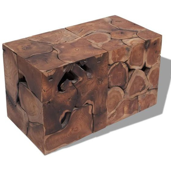 Hocker/Couchtisch Massivholz Teak