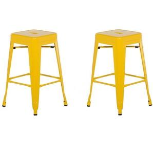 Hocker gelb Höhe 60 cm 2er Set CABRILLO