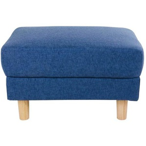 Hocker in Blau Webstoff Skandi Design