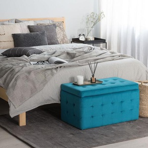 Hocker mit Deckel marineblau MICHIGAN