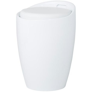 Hocker mit Stauraum - weiß - 50 cm | Möbel Kraft