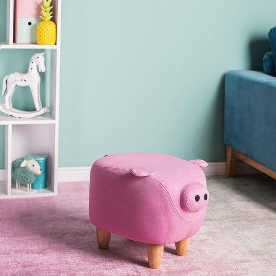 Hocker Polsterbezug rosa PIGGY