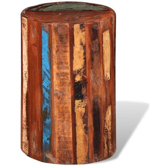 Hocker Recyceltes Massivholz