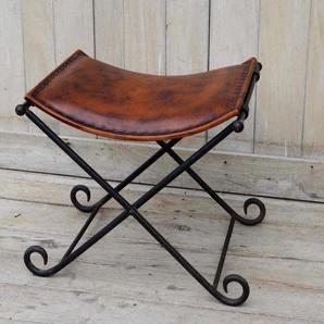 Home affaire Hocker, Vintage-Stil, schwarz, Material Metall »Rustikal«