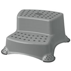 Hocker Trittschemel Tritthocker zweistufig bis 120 kg grau