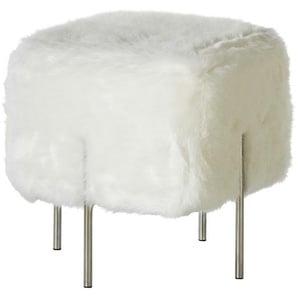 Hocker - weiß - 44 cm - 45 cm - 44 cm | Möbel Kraft