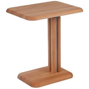 Höhenverstellbarer Telefontisch aus Wildeiche Massivholz rollbar